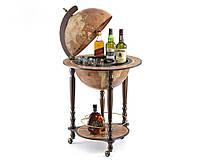 """Глобус-бар напольный коричневый """"Да Винчи"""" 110 см"""