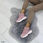 Демисезонные женские розовые ботинки, матовая эко-кожа 37 ПОСЛЕДНИЕ РАЗМЕРЫ, фото 2