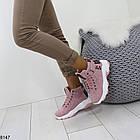 Демисезонные женские розовые ботинки, матовая эко-кожа 37 ПОСЛЕДНИЕ РАЗМЕРЫ, фото 3