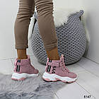 Демисезонные женские розовые ботинки, матовая эко-кожа 37 ПОСЛЕДНИЕ РАЗМЕРЫ, фото 4