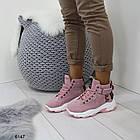 Демисезонные женские розовые ботинки, матовая эко-кожа 37 ПОСЛЕДНИЕ РАЗМЕРЫ, фото 5