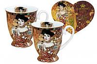 """Набор для чая 2 кружки в сердце Г.Климт """"Адель Блох-Бауэр"""""""
