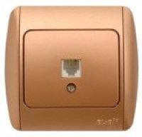 Розетка ABB EL-Bi ZIRVE телефонная золото для внутреннего (скрытого) монтажа, Турция