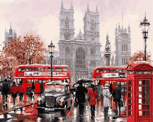 VP441new Набор-раскраска по номерам Дождливый Лондон Худ МакНейл Ричард, фото 2