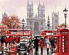 VP441new Набор-раскраска по номерам Дождливый Лондон Худ МакНейл Ричард