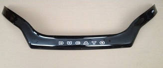 Мухобойка Fiat Ducato (С заходом на фары) (2014>) (VT-52) Дефлектор капота накладка