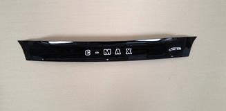 Мухобойка Ford Focus C-MAX (короткий) (2007-2010) (VT-52) Дефлектор капота накладка