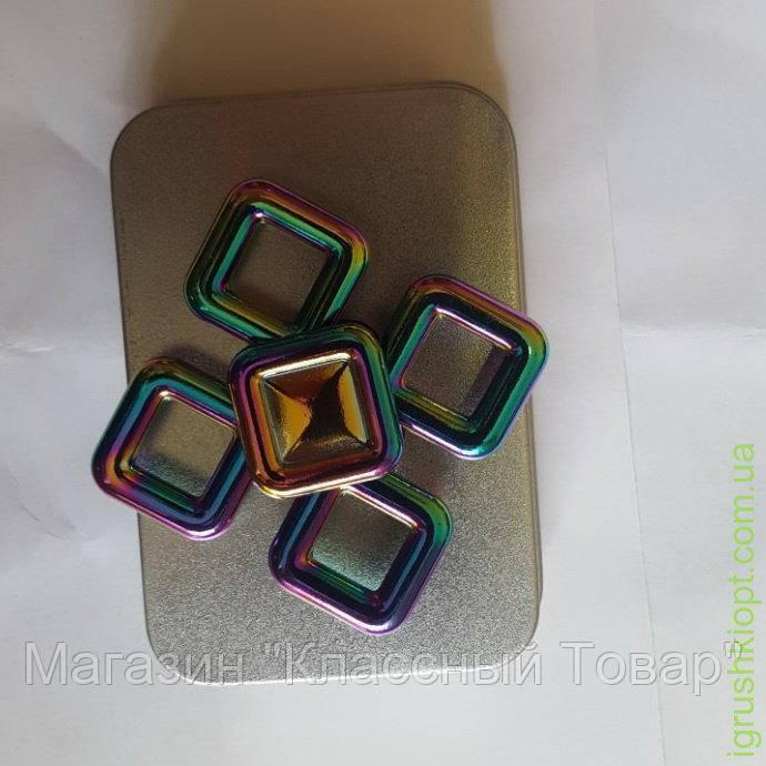"SALE! Спиннер метал хамелеон ""Фигурный, 4 квадрата"" 0307-18"