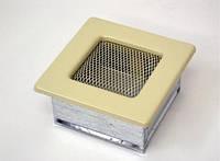 Вентиляционная решетка Kratki 11х11 см бежевая, фото 1