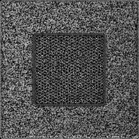 Вентиляционная решетка Kratki 11х11 см черное серебро без жалюзи, фото 1