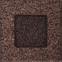 Вентиляционная решетка Kratki 11х11 см медная без жалюзи, фото 1