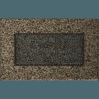 Вентиляционная решетка Kratki 11х17 см черное золото без жалюзи, фото 1