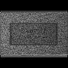 Вентиляционная решетка Kratki 11х17 см черное серебро без жалюзи