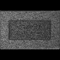 Вентиляционная решетка Kratki 11х17 см черное серебро без жалюзи, фото 1