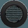 Вентиляционная решетка Kratki FI Ø100 мм Черная