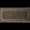 Вентиляционная решетка Kratki 11х24 см черное золото без жалюзи