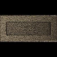 Вентиляционная решетка Kratki 11х24 см черное золото без жалюзи, фото 1