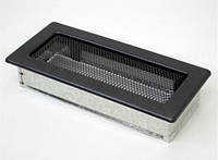 Вентиляційна решітка Kratki 11х24 см графітова, фото 1