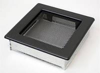 Вентиляционная решетка Kratki 17х17 см графитовая, фото 1