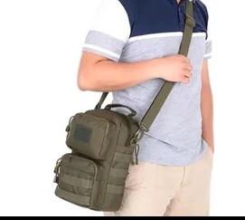 Тактическая городская мужская сумка оливковая