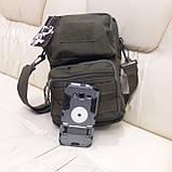 Тактическая городская мужская сумка оливковая, фото 2
