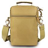 Тактическая городская мужская сумка оливковая, фото 3