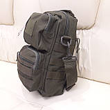 Тактическая городская мужская сумка оливковая, фото 6