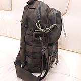 Тактическая городская мужская сумка оливковая, фото 8