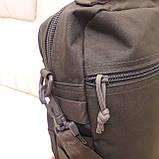 Тактическая городская мужская сумка оливковая, фото 9