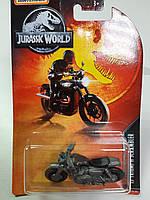 Модель MatchBox Triumph Scrambler Серия Jurassic World Матчбокс Мотоцикл 1:64