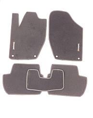 Ворсовые коврики для Citroen C4 (2010-) Текстильные в салон авто (серые) (StingrayUA.)