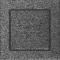 Вентиляционная решетка Kratki 17x17 см черное серебро без жалюзи, фото 1