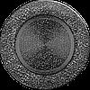 Вентиляційна решітка Kratki FI Ø125 мм Чорне срібло