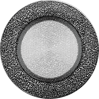 Вентиляционная решетка Kratki FI Ø125 мм Черное серебро, фото 1