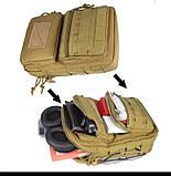 Тактическая городская мужская сумка оливковая, фото 4
