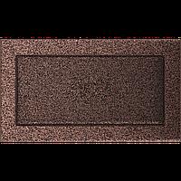 Вентиляционная решетка Kratki 17x30 см медная без жалюзи, фото 1