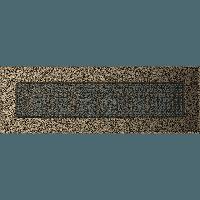 Вентиляционная решетка Kratki 11х32 см черное золото без жалюзи, фото 1