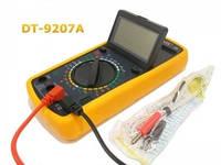 Мультиметр DT 9207А Цифровой мультиметр тестер измерение напряжения температуры Подарок механику