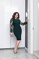Красивое платье прямого кроя Зеленый Большого размера
