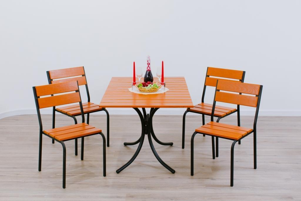 Комплект мебели Рио Плюс стол + 4 стула Тик
