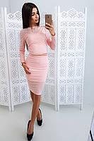Розовый костюм из сетки органза