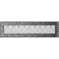 Вентиляционная решетка Kratki 11х42 см черное серебро без жалюзи, фото 1
