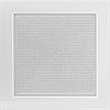 Вентиляционная решетка Kratki 22х22 см белая без жалюзи