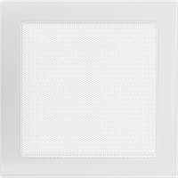 Вентиляційна решітка Kratki 22х22 см біла без жалюзі, фото 1