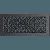 Вентиляционная решетка Kratki 17x37 см графитовая без жалюзи