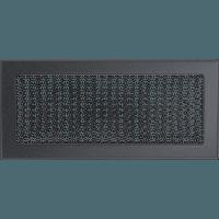 Вентиляционная решетка Kratki 17x37 см графитовая без жалюзи, фото 1