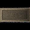 Вентиляционная решетка Kratki 17x37 см черное золото без жалюзи