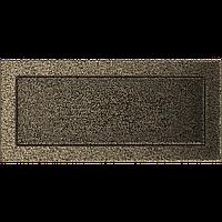 Вентиляционная решетка Kratki 17x37 см черное золото без жалюзи, фото 1