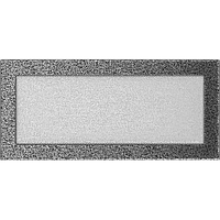 Вентиляционная решетка Kratki 17x37 см черное серебро без жалюзи, фото 1