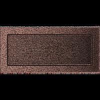 Вентиляционная решетка Kratki 17x37 см медная без жалюзи, фото 1